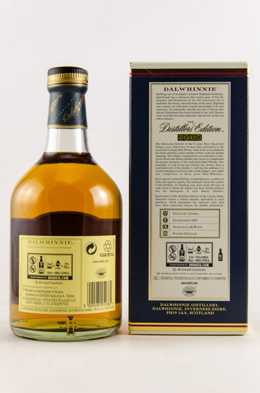 Dalwhinnie Distillers Edition 2018 back