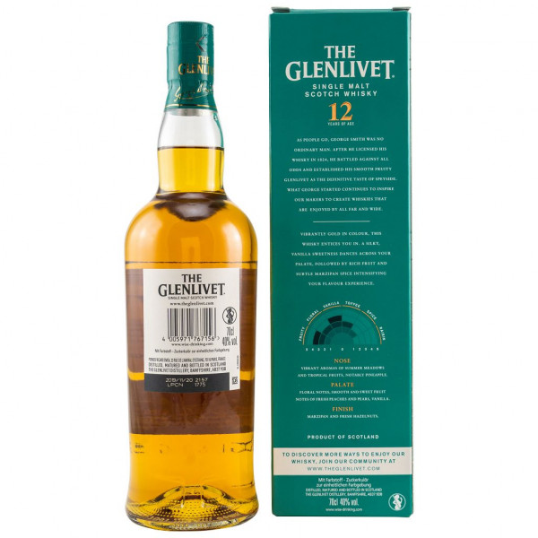 The Glenlivet 12 Jahre Double Cask back
