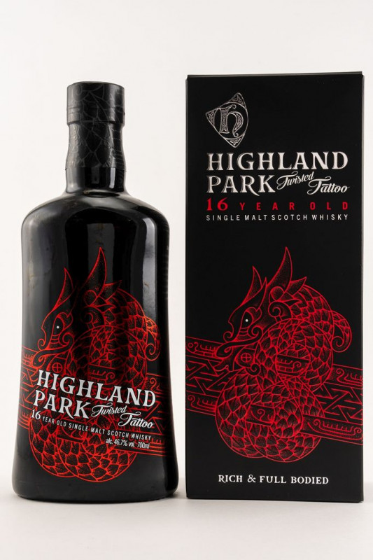 Highland Park 16 Jahre Twisted Tattoo front