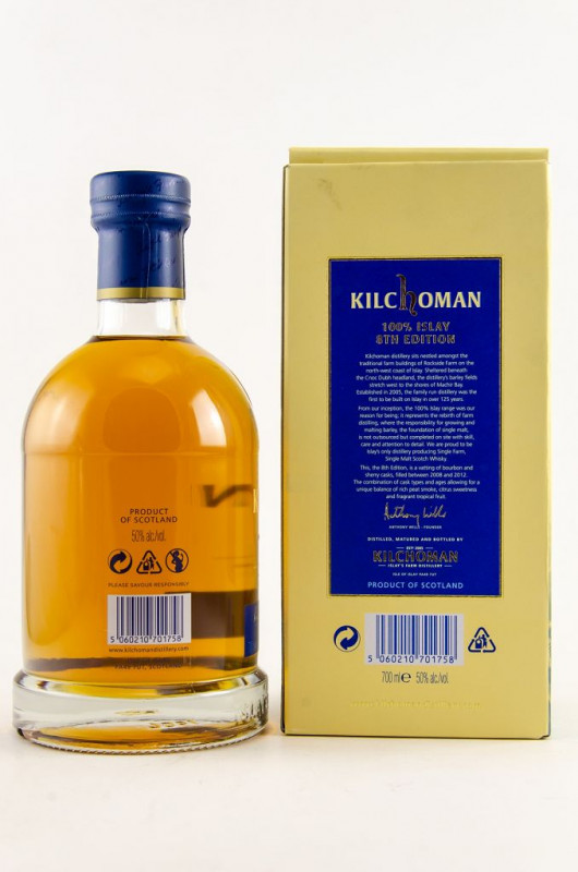 Kilchoman 100% Islay 8th Edition back