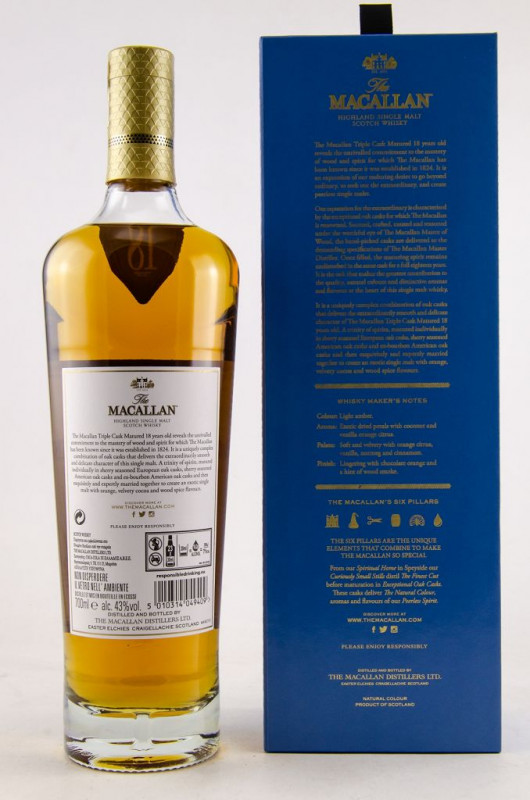 The Macallan Triple Cask 18 Jahre back