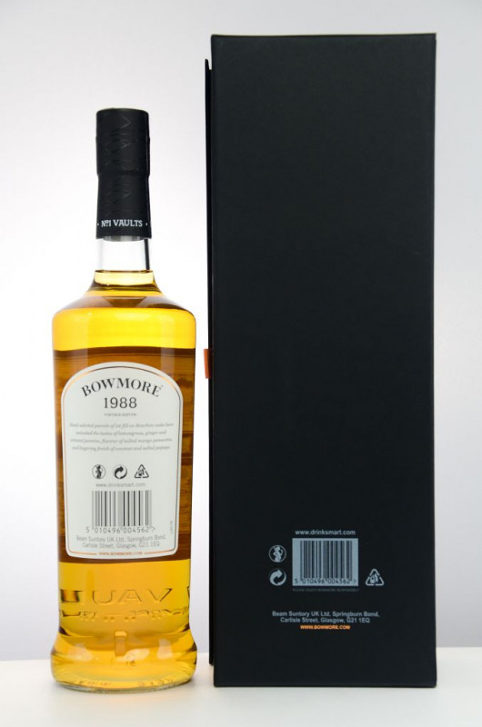 Bowmore 1988 Vintage Edition back