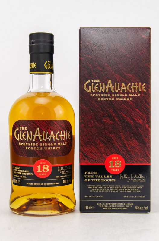 The GlenAllachie 18 Jahre front