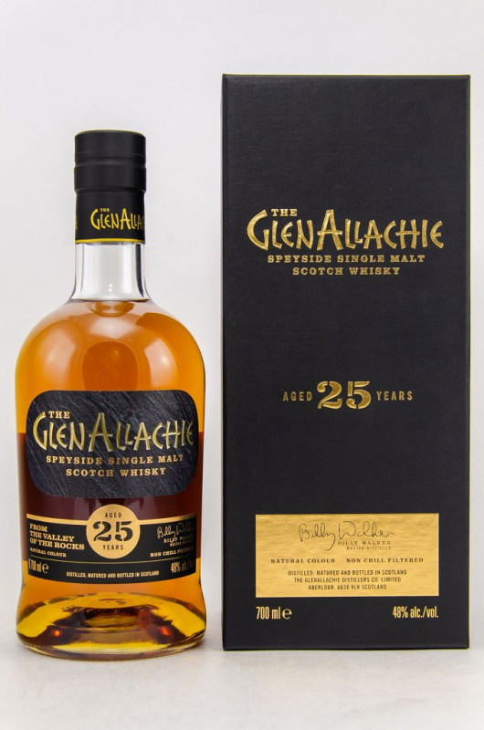 The GlenAllachie 25 Jahre front
