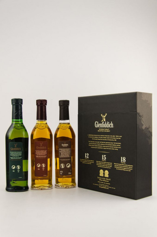 Glenfiddich Collection 3 x 200 ml back