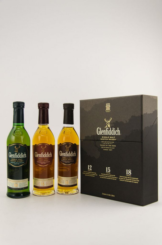 Glenfiddich Collection 3 x 200 ml front