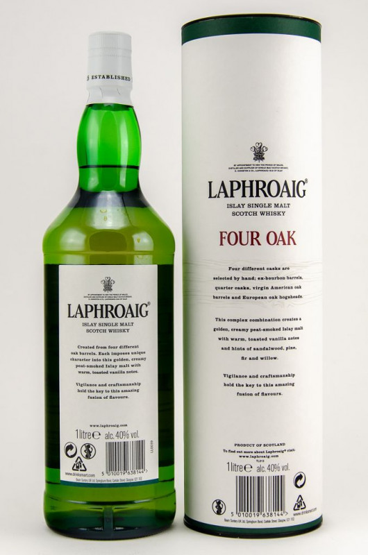 Lapgroaig Four Oak back