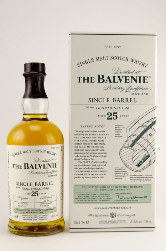 Balvenie Single Barrel 25 Year Old Traditional Oak