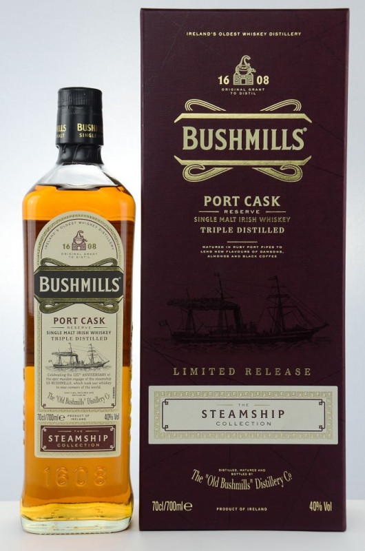 Bushmills Port Cask – The Steamship Collection front