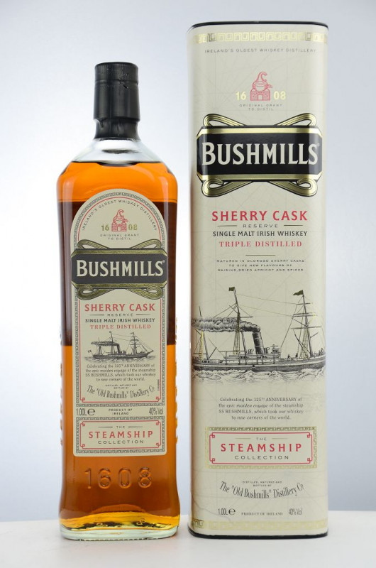 Bushmills Sherry Cask – The Steamship Collection front