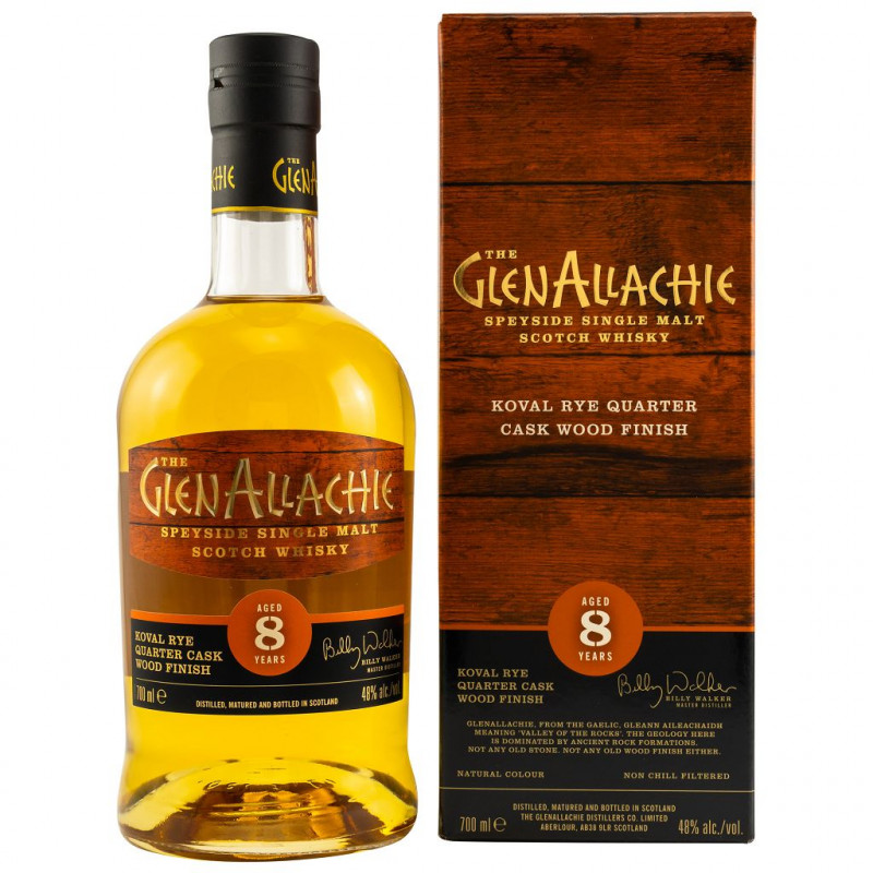 GlenAllachie 8 Jahre Koval Rye Quarter Cask Wood Finish front