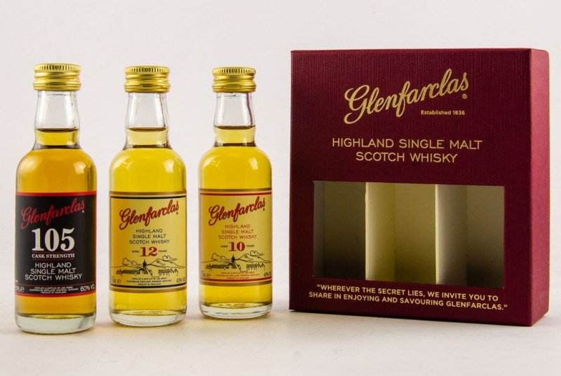 Glenfarclas Collection 10 Jahre, 12 Jahre und 105 Cask Strength