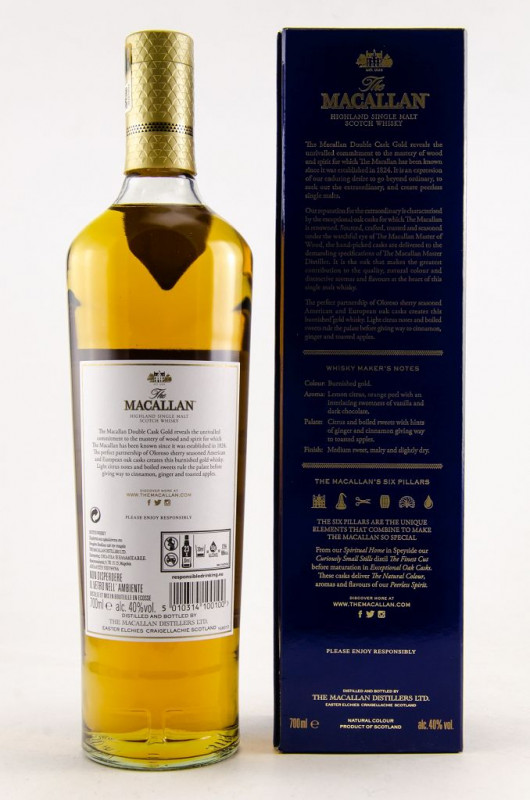 Macallan Double Cask Gold back