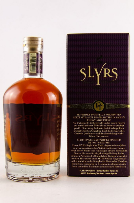 Slyrs Port Cask back