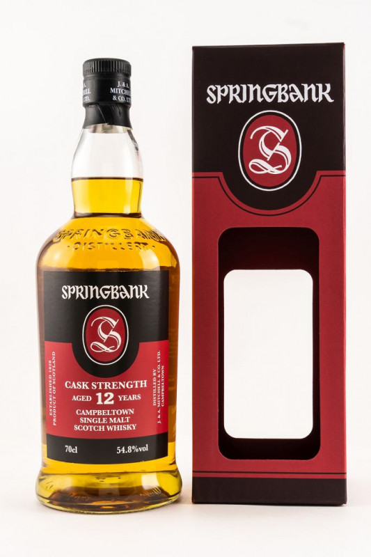 Springbank 12 Jahre Cask Strength 2019 front