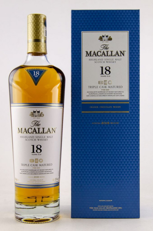 The Macallan Triple Cask 18 Jahre front
