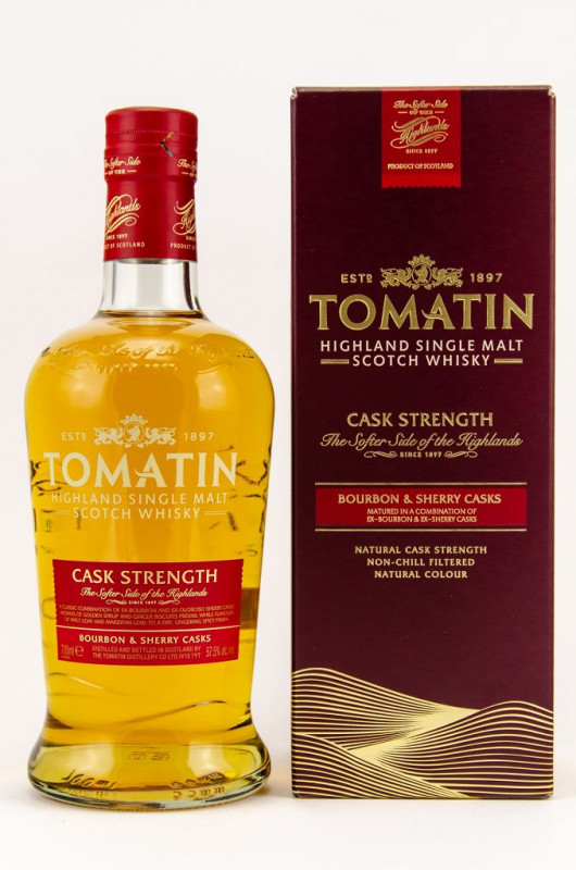 Tomatin Cask Strength front