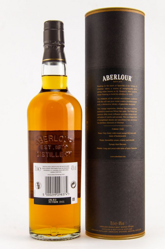 Aberlour White Oak 2007/2017 back