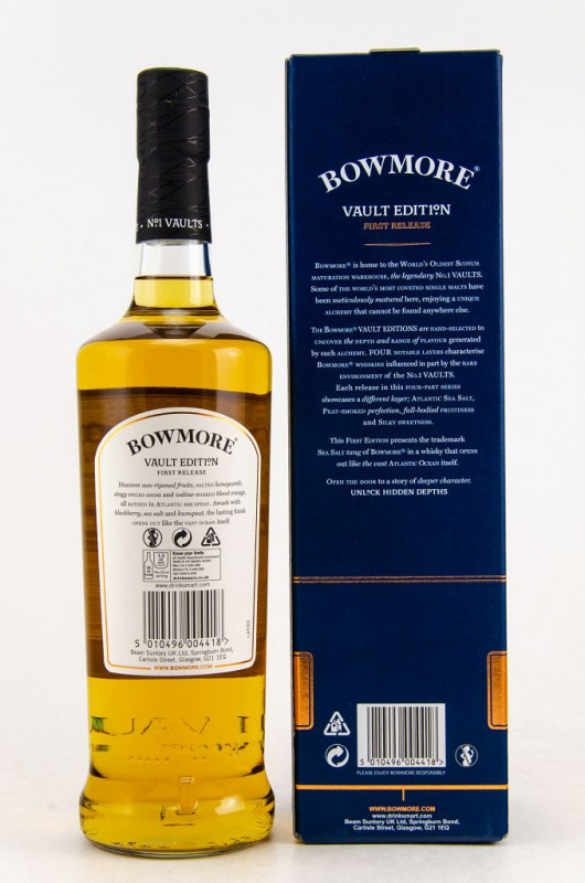 Bowmore Vault Edition Atlantic Sea Salt First Release back