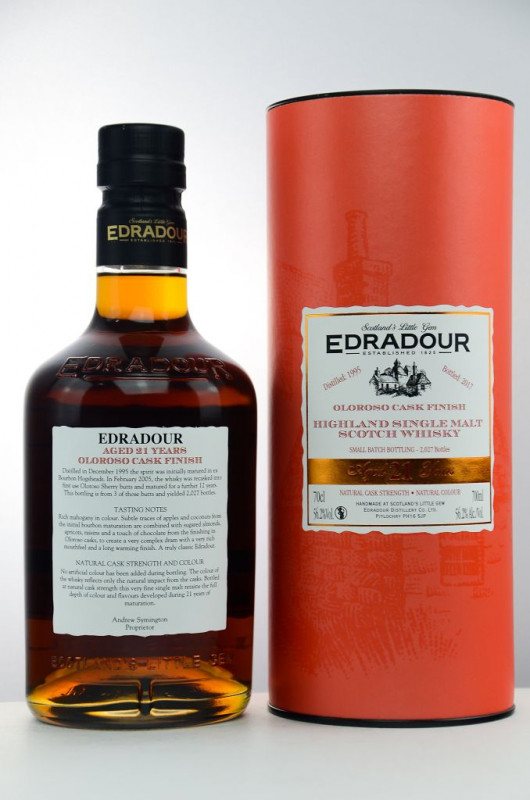 Edradour 1995/2017 21 Jahre Oloroso Sherry Cask Finish back