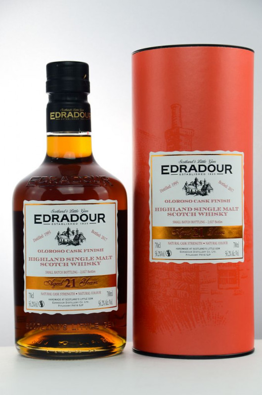 Edradour 1995/2017 21 Jahre Oloroso Sherry Cask Finish front