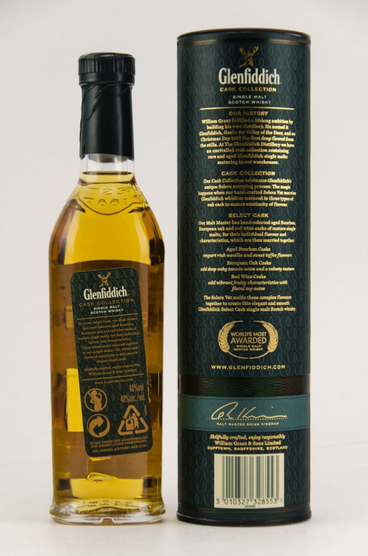 Glenfiddich Select Cask (200 ml) back