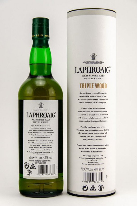 Laphroaig Triple Wood back