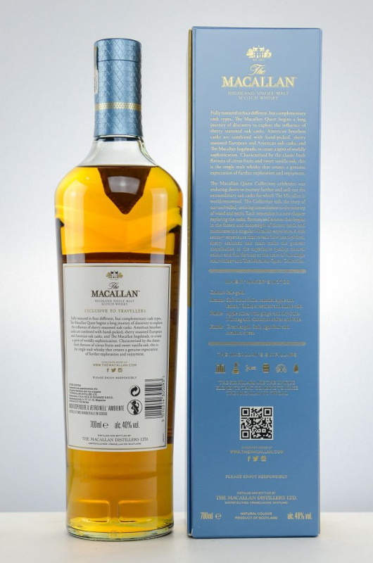 The Macallan Quest back