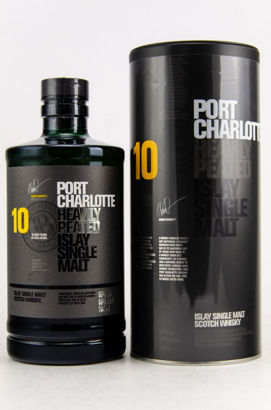 Port Charlotte 10 Jahre Heavily Peated front